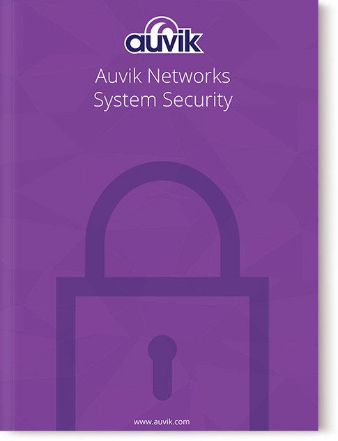 white paper cover, Auvik Networks System Security