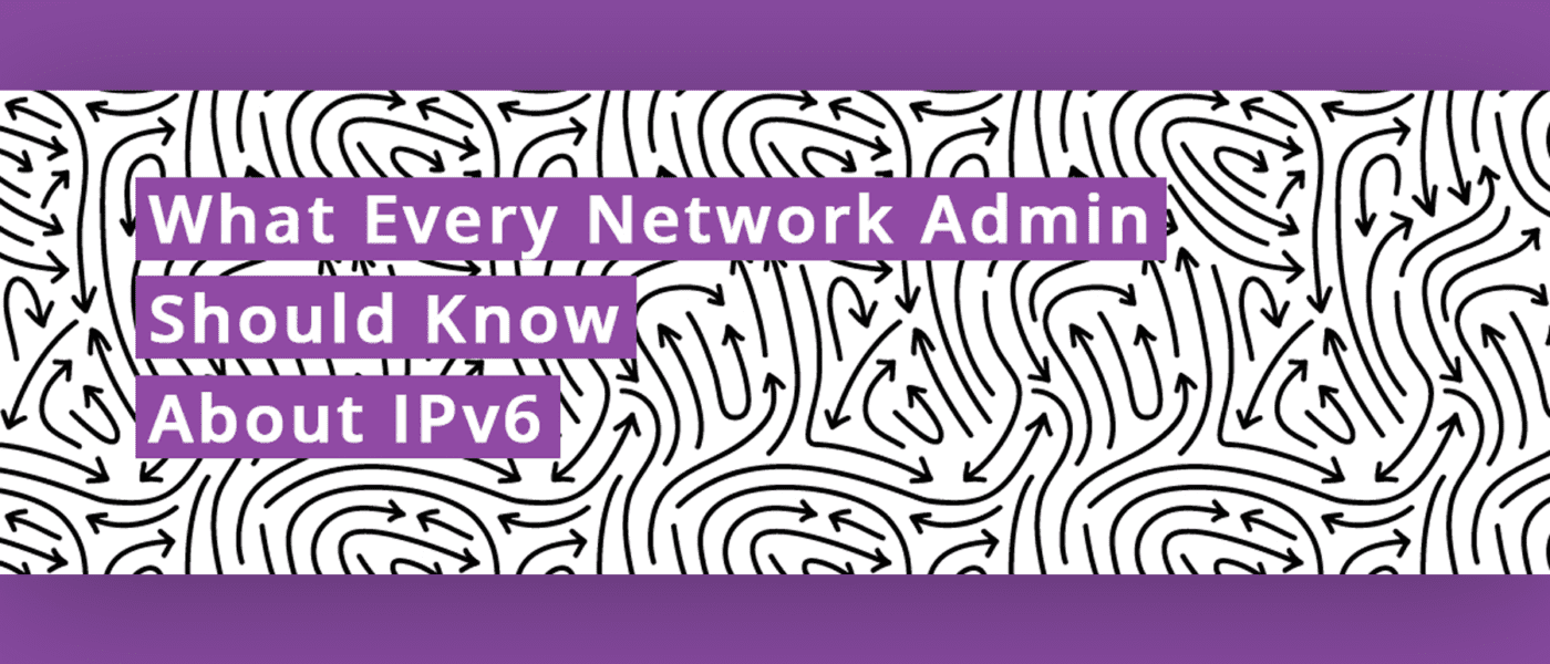 IPv6 network design admin banner with arrows