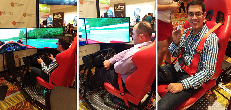 racing game Auvik IT Nation 2015