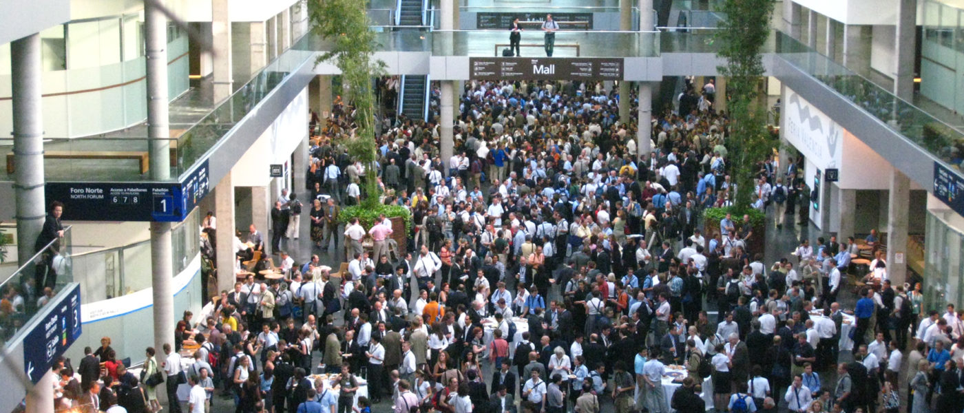 aerial view crowded conference floor MSPs 2016