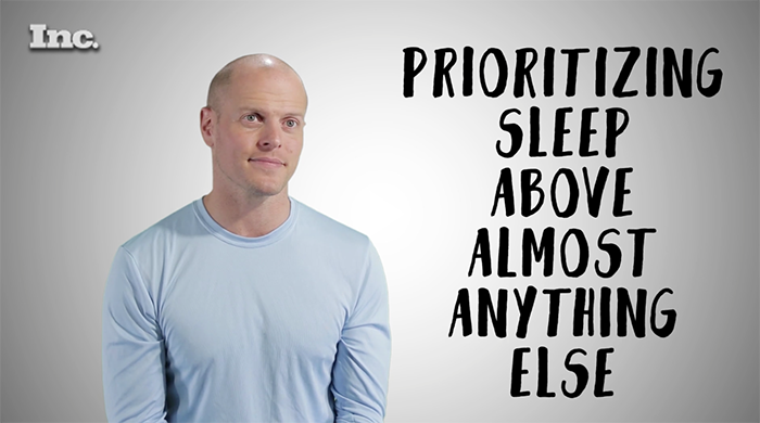 tim ferriss elite performers prioritize sleep