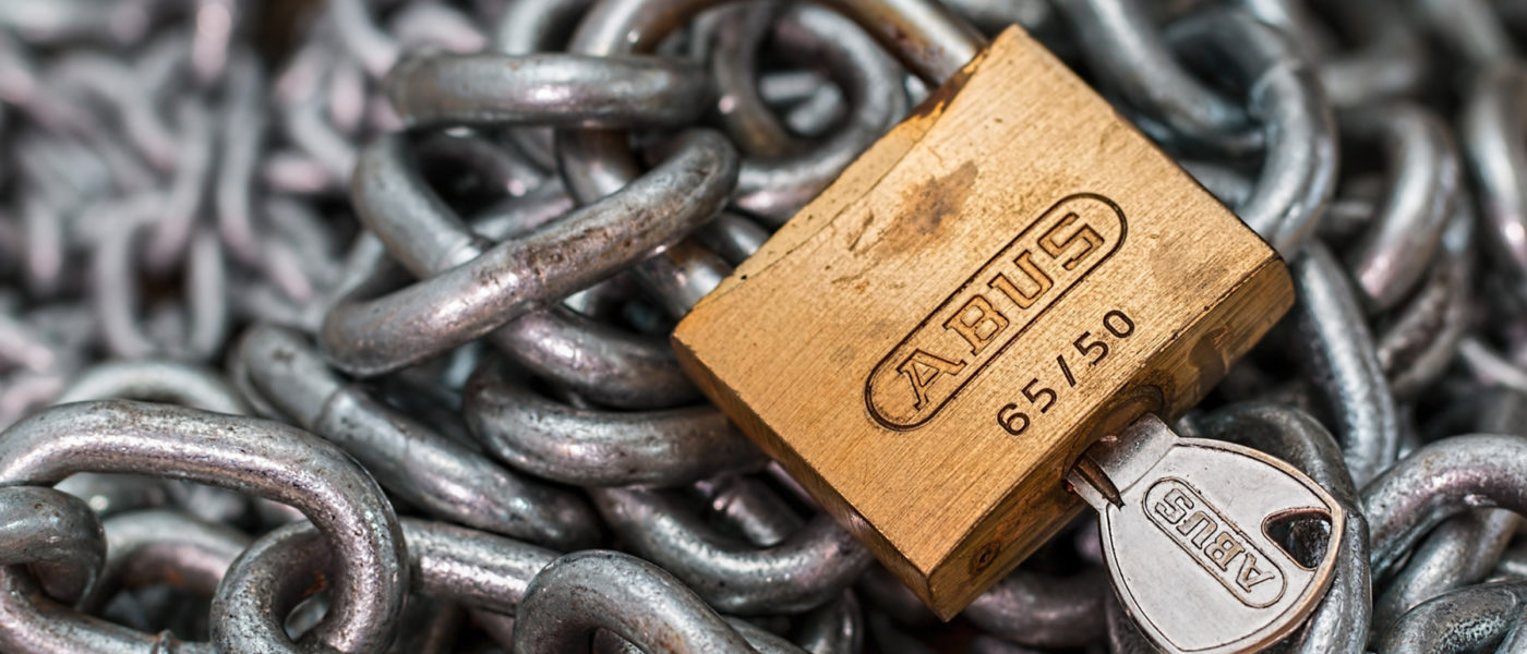 Wireless security - lock and chain