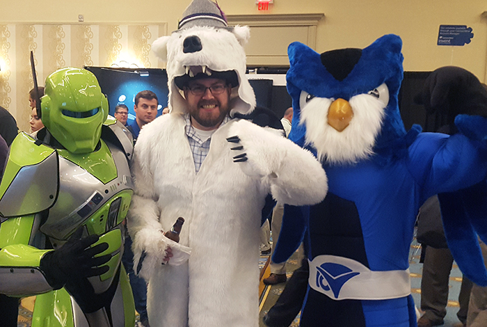 ConnectWise mascots Auvik Nanook AN18 Automation Nation 2018