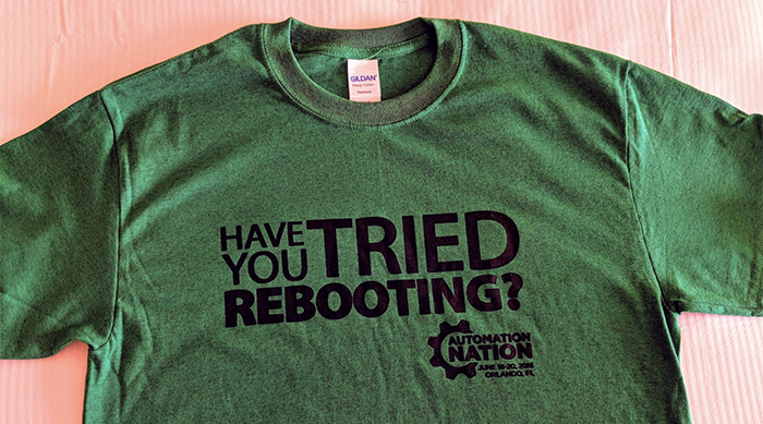 reboot shirt ConnectWise Automation Nation 2018 AN18