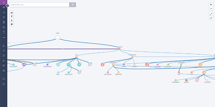 current version of the auvik network topology map
