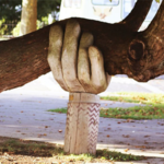 hand carving supporting tree