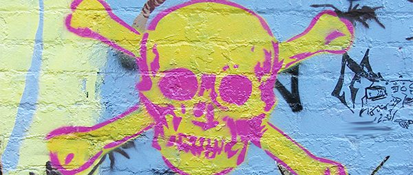 network security protection cybercrime graffiti